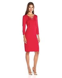 Calvin Klein Lace Up Detail Sweater Dress