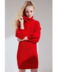 Callahan Cowl Turtleneck Sweater Dress