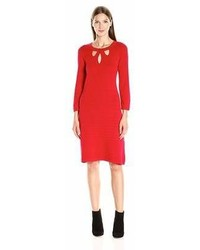 Nine West Cutout Fit Flare Sweater Dress