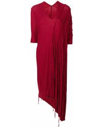 Masnada Draped Midi Sweater Dress