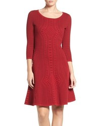 Gabby Skye Fit Flare Sweater Dress