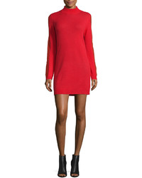 Halston Heritage Cashmere Open Back Sweaterdress Lipstick