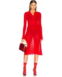 Maison Margiela Irregular Rib Polo Sweater Dress