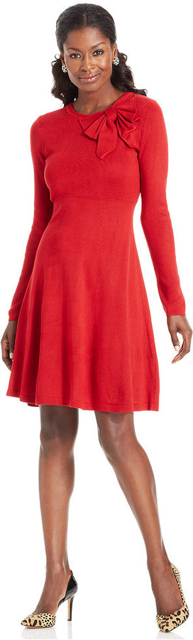 Jessica Howard Long Sleeve A Line Sweater Dress | Where to buy ...
