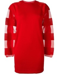 MM6 MAISON MARGIELA Semi Sheer Sleeve Sweater Dress