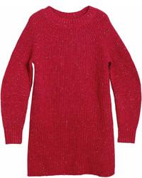 Burberry Rib Knit Wool Cashmere Mohair Sweater Dress