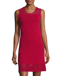 Max Studio Sleeveless Cutout Sweater Dress Dark Red