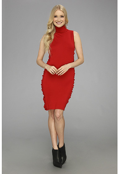 571f9b22f9b8 ... Calvin Klein Sleeveless Ruched Sweater Dress ...