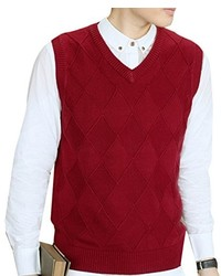 Red Sweater Vest