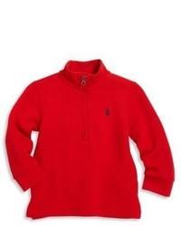 Ralph Lauren Babys Half Zip Rib Knit Pullover