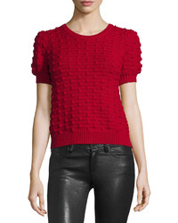 Alice + Olivia Blair Puff Sleeve Bobble Sweater