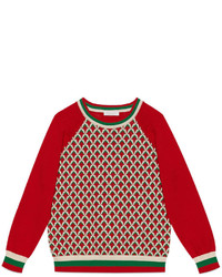 Gucci Childrens Patterned Cotton Sweater