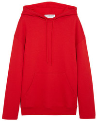 Balenciaga Cotton Jersey Hooded Top Red