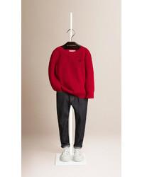 Burberry Crew Neck Cotton Sweater