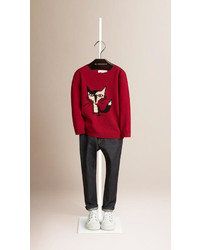 Burberry Fox Graphic Cashmere Sweater