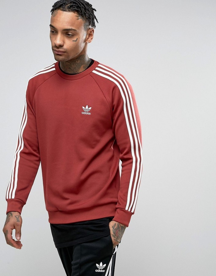 ... adidas Originals Sst Crew Neck Sweatshirt In Red Bq5407 ... bb5dbb7e6fc
