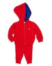 Ralph Lauren Babys Two Piece Hoodie Sweatpants Set