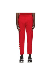DSQUARED2 Red Ski Fit Icon Lounge Pants