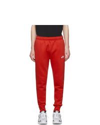 Nike Red Sportswear Club Lounge Pants