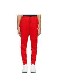 Nike Red Sportswear Tech Fleece Jogger Sweatpants