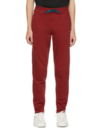 Ps By Paul Smith Red Zebra Logo Lounge Pants