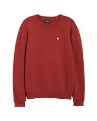 Brixton B Shield Applique Crewneck Sweatshirt