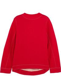 Marni Oversized Cotton Blend Jersey Sweatshirt Red