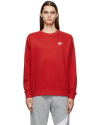Nike Red Sportswear Club Sweatshirt