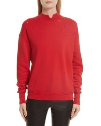 Helmut Lang Slash Neck Destroyed Sweatshirt