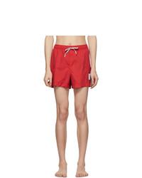 Thom Browne Red Drawcord Waist Swim Shorts