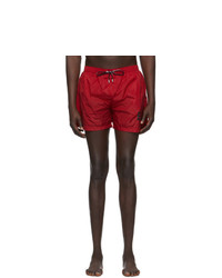 Balmain Red Logo Swim Shorts