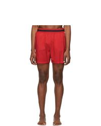 Stella McCartney Red Medium Length Swim Shorts