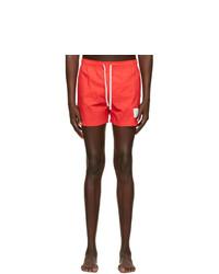 Thom Browne Red Nylon Drawcord Swim Shorts