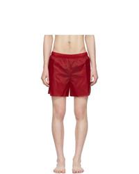 Acne Studios Red Warrick Swim Shorts