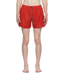 Ps By Paul Smith Red Zebra Logo Swim Shorts