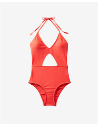 Express Color Block Cut Out One Piece Swimsuit