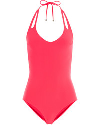 Heidi Klum Halter Neck One Piece Swimsuit