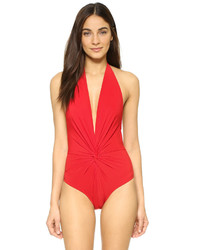 Karla Colletto Low Back Plunge Swimsuit