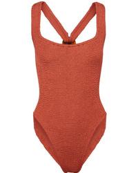 Hunza G Zora Seersucker Swimsuit