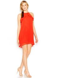 BCBGeneration Ruffle Halter Shift Dress
