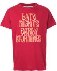 Off-White Art Dad Late Nights Early Mornings T Shirt