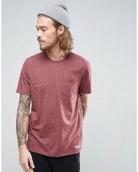 Element Basic Pocket T Shirt In Red Heather
