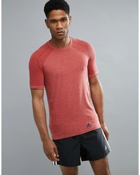 adidas Running Prime Knit T Shirt In Red Az2882