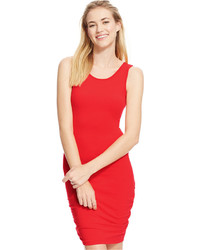 Say What Juniors Ruched Side Bodycon Tank Dress
