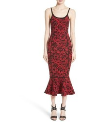 Michael Kors Michl Kors Stretch Rose Jacquard Tank Dress