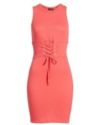 Dee Elly Ribbed Corset Tank Dress