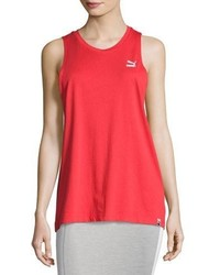 Puma Archive Logo Athletic Tank Top Red