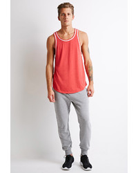 Forever 21 Contrast Trim Heathered Tank