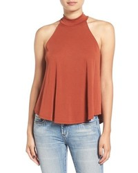 Lush Mock Neck Swing Tank