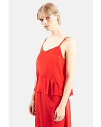 Topshop Pleated Silk Camisole